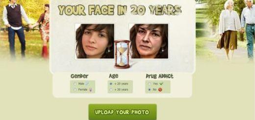in20years, Aplicacion online que muestra como seras en 20 años