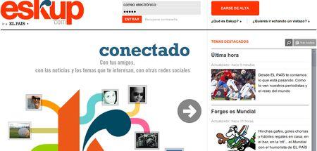 Eskup, Red social de noticias del periodico El Pais