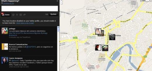 Streamdin, Cliente online para Twitter con geolocalizacion en Google Maps