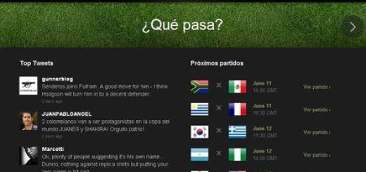 Twitter Copa Mundial 2010, Sigue el Mundial de Sudafrica en Twitter