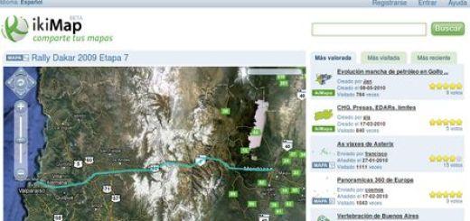 ikiMap: Comparte tus mapas, sitios y viajes