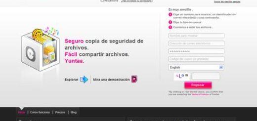 Yuntaa, Almacena y comparte archivos de hasta 1 GB