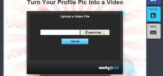 Vanityvid, Utiliza un video como avatar animado en Facebook y Twitter