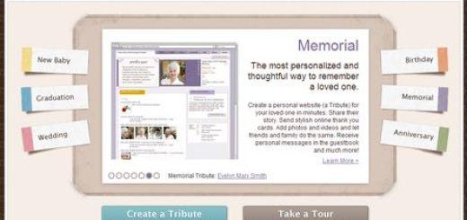Your Tribute, Aplicacion online para homenajear a amigos y familiares