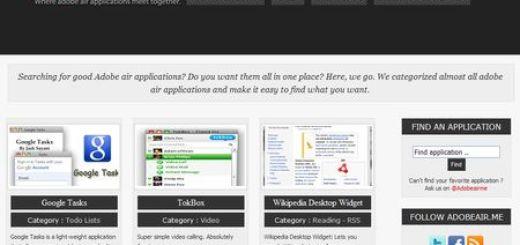 AdobeAir.me, Directorio de aplicaciones Adobe Air
