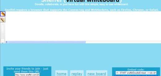Sneffel, Pizarra virtual colaborativa y online