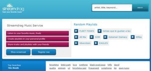 StreamDrag, Escucha online la musica que quieras