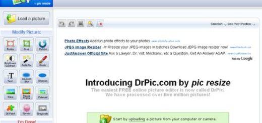 DrPic, Editor de imagenes gratuito y online