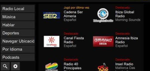 RadioTime, Emisoras de Radio online y Podcast de todo el mundo
