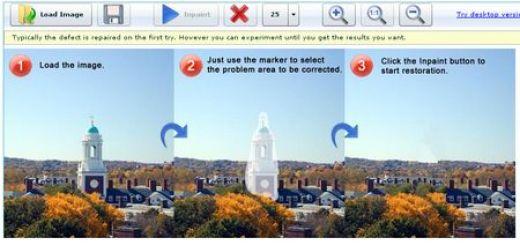 WebInpaint, Aplicacion para eliminar objetos o personas de tus fotos