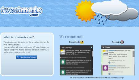Tweetmete, La informacion meteorologica de tu ciudad en Twitter