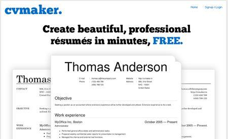 CV Maker, Crea tu curriculum y descargalo en PDF