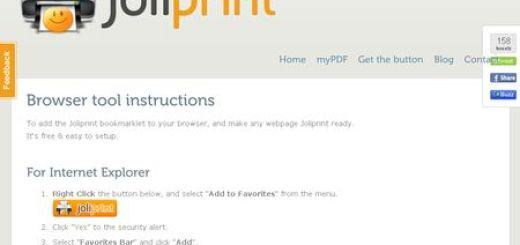 Joliprint, Guarda un sitio web en formato PDF con un click