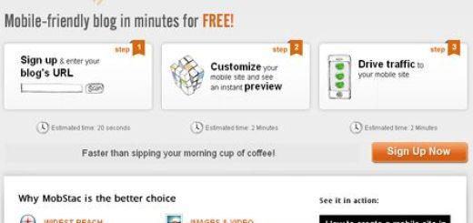 MobStac, Crea la version para moviles de tu blog en segundos