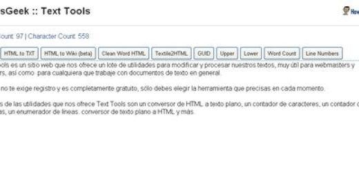 Text Tools, Herramientas online para modificar y trabajar con textos