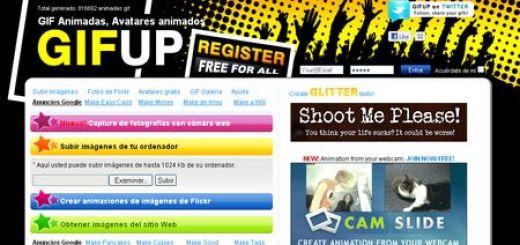 GIFup, Crea gifs y avatares animados online y gratis