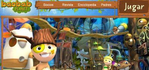 Baobab Planet, Juego online en 3D para niños y padres