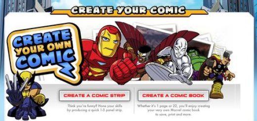 Crea comics con personajes de Marvel, online y gratis