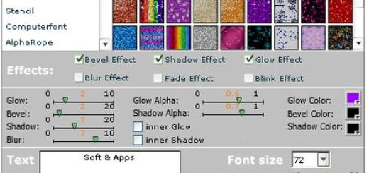 Glitter Text, Generador online de llamativos textos en flash