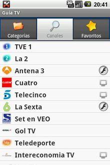 Guia TV -ES, Toda la programacion de TV en tu Android