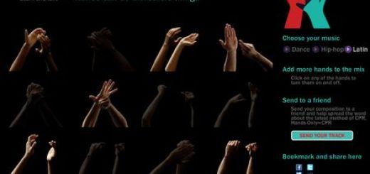 Hands Symphony, Crea musica online con chasquidos de manos
