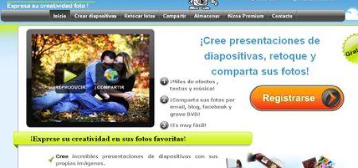 Kizoa - Crea presentaciones, almacena fotos y retoca imagenes online y gratis