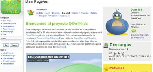 OOo4Kids, Un Office gratuito para niños
