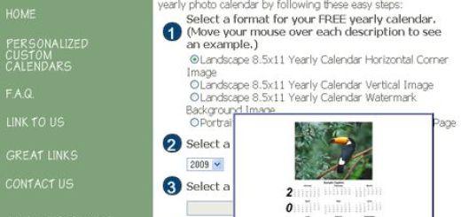 Yearly Calendar Maker, Crea calendarios personalizados para imprimir