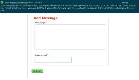 YMDOD, Envia mensajes secretos con contraseña