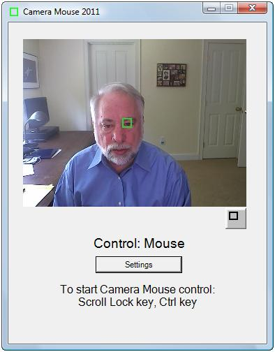 CamaraMouse, Sustituye el uso del raton por movimientos de cabeza