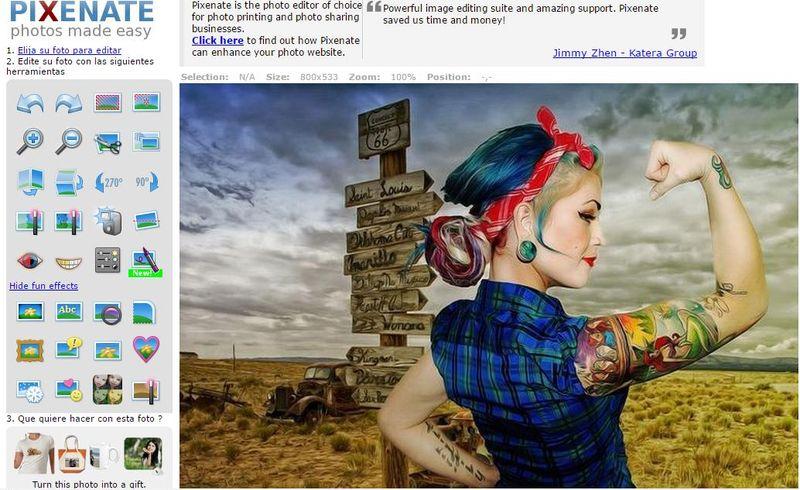 Pixenate Editor De Imagenes Online Con Diversos Efectos