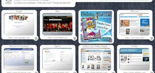 BeMyHomepage, Pagina de inicio con miniaturas de tus sitios favoritos
