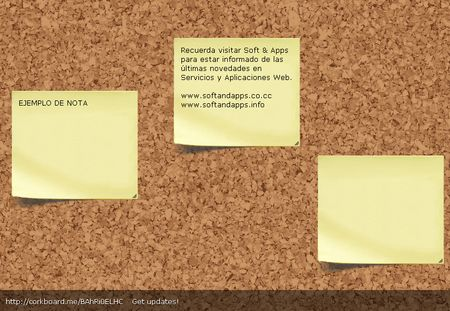 Corkboard, Tablon virtual para compartir notas tipo post-it en internet