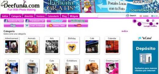 Deefunia, Aplicacion web con cientos de plantillas para fotomontajes