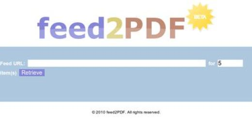 feed2PDF, Transforma un feed en documento PDF
