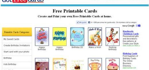 Free Printable Cards, Postales para personalizar e imprimir