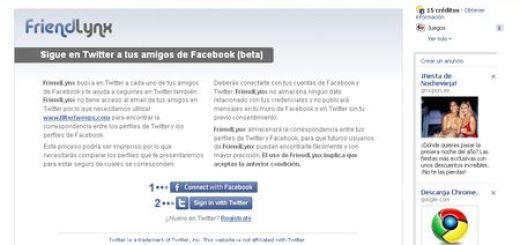 FriendLynx, Sigue en Twitter a tus amigos de Facebook