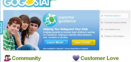 GoGoStat, Aplicacion de control parental en Facebook
