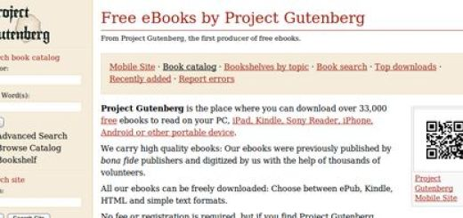 Project Gutenberg, Mas de 30000 ebooks en descarga libre