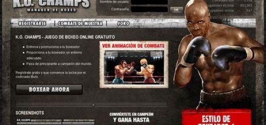 K.O. Champs, Juego de navegador donde te conviertes en Manager de Boxeo