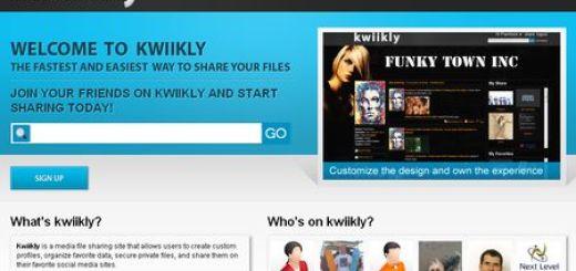 Kwiikly, Crea una pagina personalizada para compartir archivos