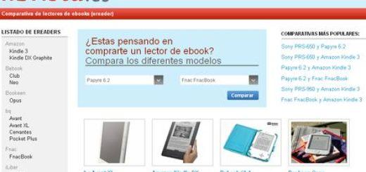 Librista, Comparativas de Ebooks Readers para ayudarte a decidir