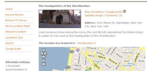 Movie Locations Guide, Localiza donde se grabaron tus peliculas o series preferidas