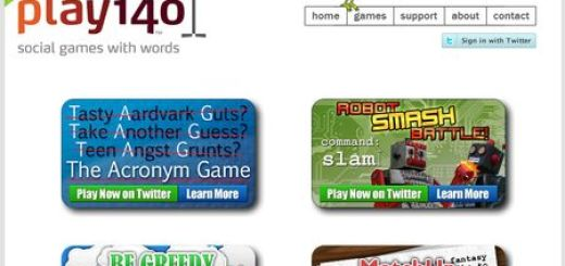play140, Web de juegos para Twitter