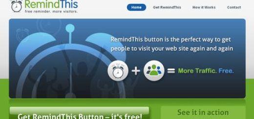 RemindThis, Widget gratuito para recordar a nuestros visitantes volver a nuestra web