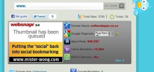 Siteholic, Chequea tu web en rakings y sitios sociales