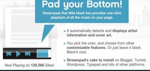 Streampad, Excelente reproductor para difundir streaming de musica en blogs
