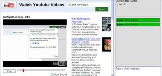 surf2gether, Crea salas para ver videos de YouTube junto a tus amigos