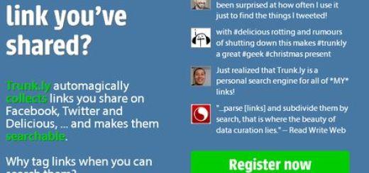 Trunk.ly: Un buscador para los enlaces que compartes en Redes Sociales