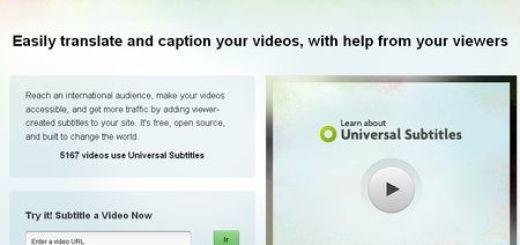 Universal Subtitles, Aplicacion web gratuita para subtitular videos online